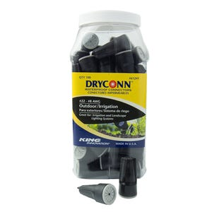VOLT® DryConn Black and Grey Waterproof Connectors (Small) | Choose 2pk, 12pk, or 100pk