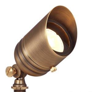 VOLT® G2 Fat Boy brass spotlight illuminated.