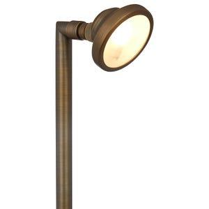 VOLT® Elevator brass path and area light illuminated.