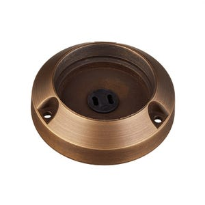 VOLT brass integrated hub base with surface mount