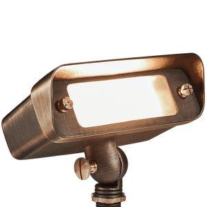 VOLT® Wide Splash R7S brass flood light.
