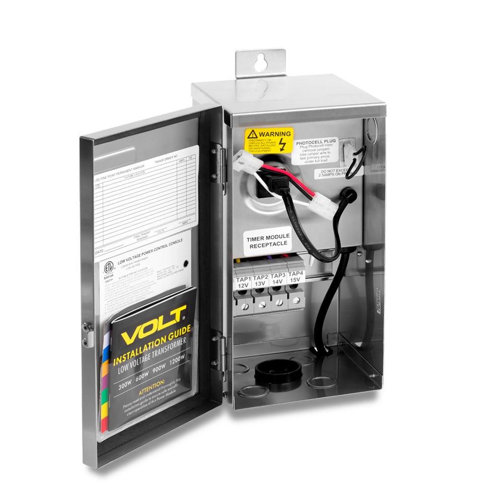 MDL Lighting Black 300 W Low Voltage Landscape Lighting Transformer Multi-Tap