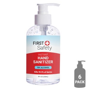 6 Pack - First Safety Hand Sanitizer (8oz/236ml) - CLEARANCE
