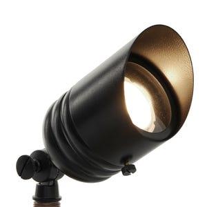 VOLT G2 Fat Boy black brass spotlight angled view.