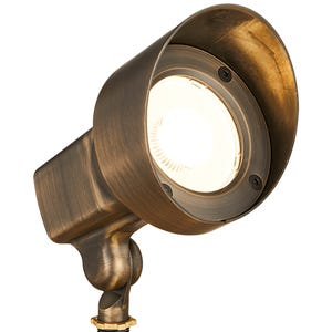 VOLT® 120V 18W Integrated LED Brass Spotlight with adjustable hex key knuckle