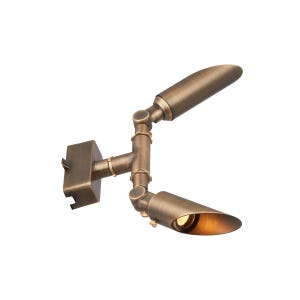 VOLT Tri-Hub ultra-slim brass up/down light side profile with extended glare guards.