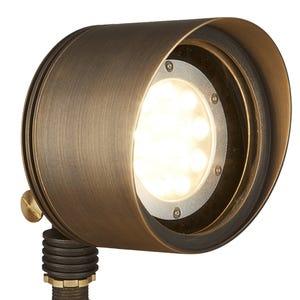 VOLT® G2 Big Par 36 brass multi-LED flood light illuminated.