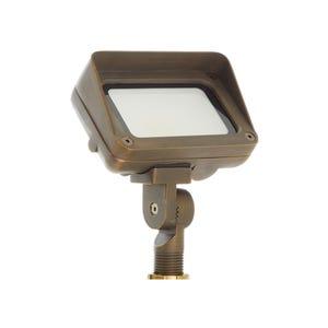 VOLT® 120V 9W LED Brass Flood Light with Knuckle Mount (Bronze)