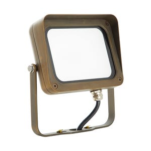 VOLT® 12V 17W LED Brass Flood Light with Yoke Mount (Bronze)