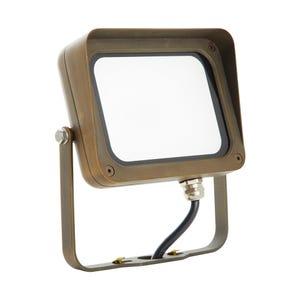 VOLT® 12V 22W LED Brass Flood Light with Yoke Mount (Bronze)