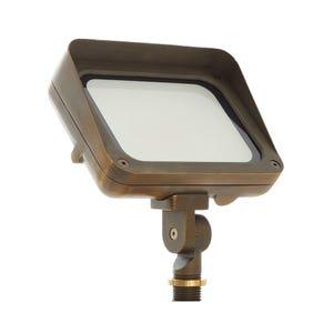 VOLT® 120V 17W LED Brass Flood Light with Knuckle Mount (Bronze)