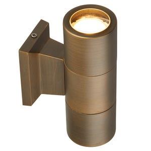 VOLT® ultra premium brass up/down sconce light illuminated.