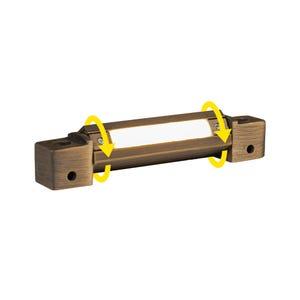 VOLT® 3in brass rotatable LED hardscape light.