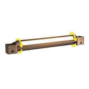 VOLT® 6in brass rotatable LED hardscape light.