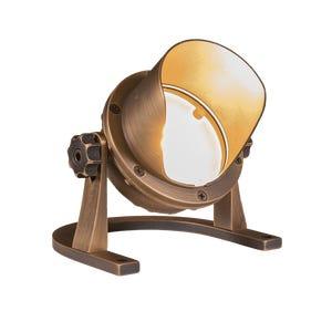 VOLT® Salty Dog brass single source integrated LED shielded underwater light pointed upward.
