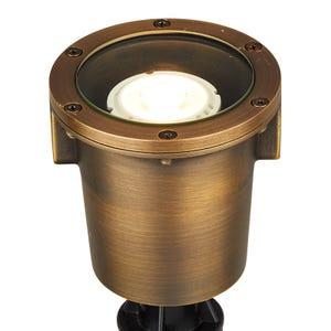 VOLT® Salty Dog MR16 brass in-grade well light