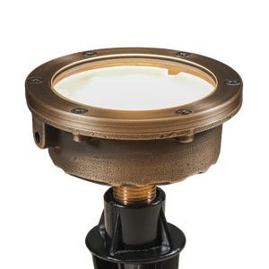 VOLT® Salty Dog single source integrated LED in-grade light for decks, patios, or docks.